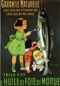vieille publicité huile de foie de morue